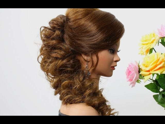 Wedding Prom Hairstyle For Medium Long Hair (View 11 of 15)