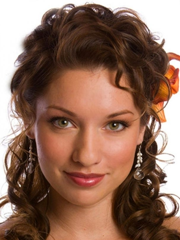 Wedding Updos For Curly Hair Medium Length   Wedding   Pinterest In Wedding Hairstyles For Shoulder Length Curly Hair (View 12 of 15)