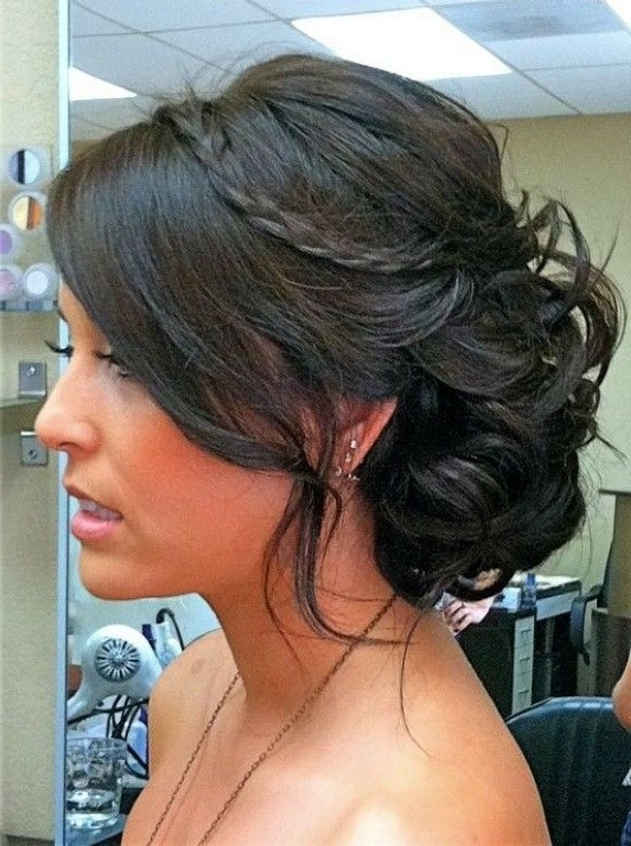 Wedding Updos For Fine Medium Length Hair | Wedding Hair Ideas In Wedding Hairstyles For Medium Length With Black Hair (View 2 of 15)