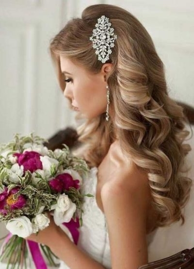 Wedding Updos For Long Curly Hair For Inspire – My Salon With Wedding Hairstyles For Long Curly Hair (View 14 of 15)