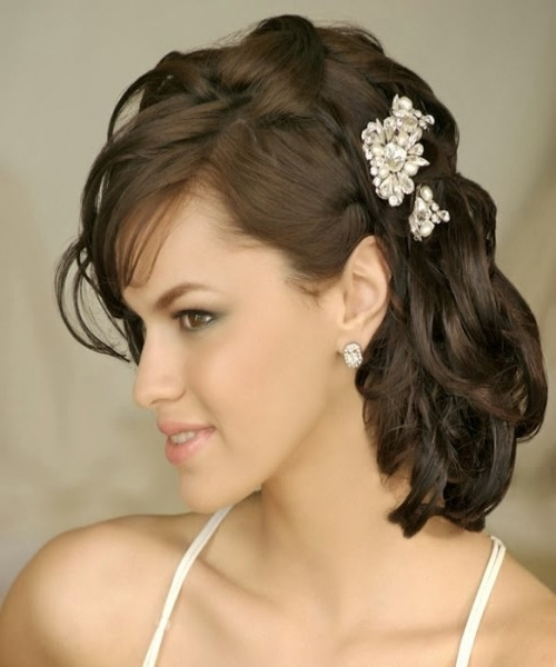 Wedding Updos For Medium Hair » Dentalchairpotato Intended For Wedding Hairstyles For Medium Length Dark Hair (View 3 of 15)