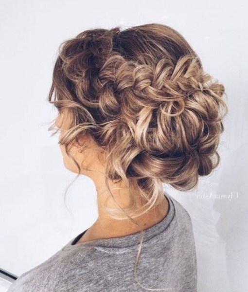 Wedding Updos For Thick Hair : Wedding Best And Popular 2018 Pertaining To Wedding Hairstyles For Thick Hair (View 4 of 15)