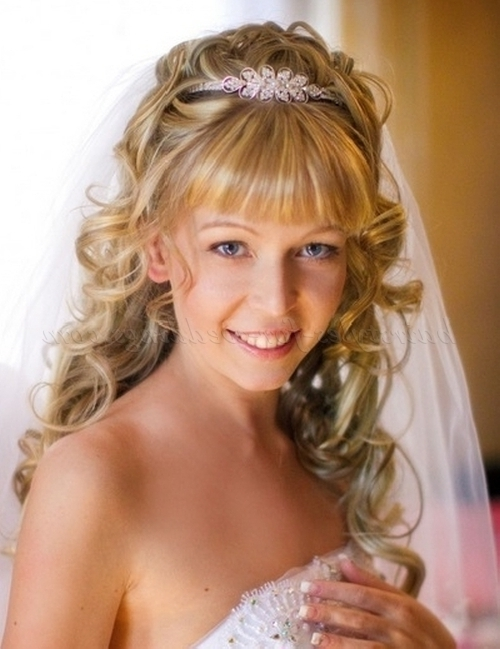 Wedding Updos With Bangs – Bridal Hairstyle With Bangs   Hairstyles Within Wedding Hairstyles For Long Hair With Fringe (View 9 of 15)