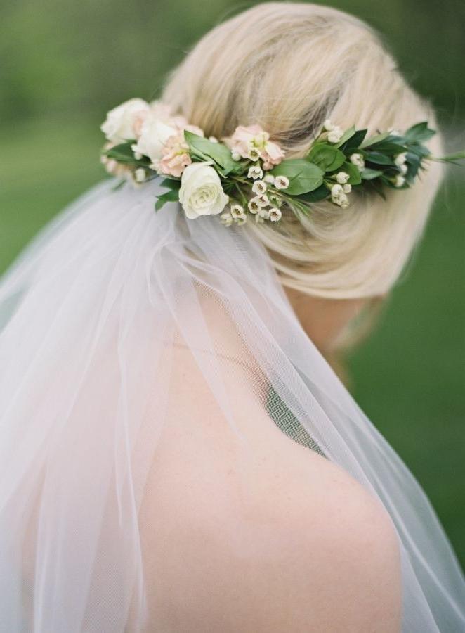Wedding Veil Flowers Luxury Best 25 Flower Crown Veil Ideas On In Wedding Hairstyles With Veil And Flower (View 11 of 15)