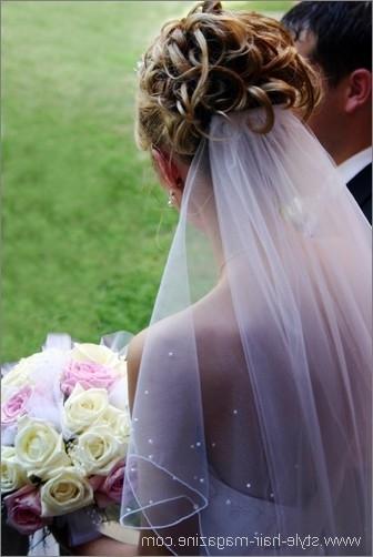 Wedding Veil Hairstyles Photo Gallery Regarding Wedding Hairstyles With Veil Underneath (View 12 of 15)