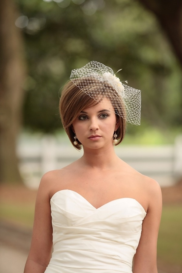 Wedding Veils For Short Hair For Wedding Hairstyles For Short Hair And Veil (View 7 of 15)
