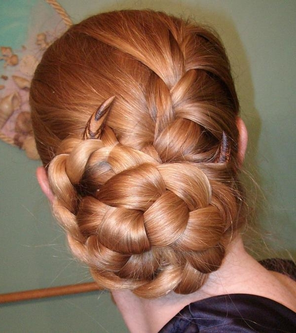 10 Beautiful Two Braids Hairstyles That Will Rock Your World! Throughout Most Current French Braids In Flower Buns (View 7 of 15)