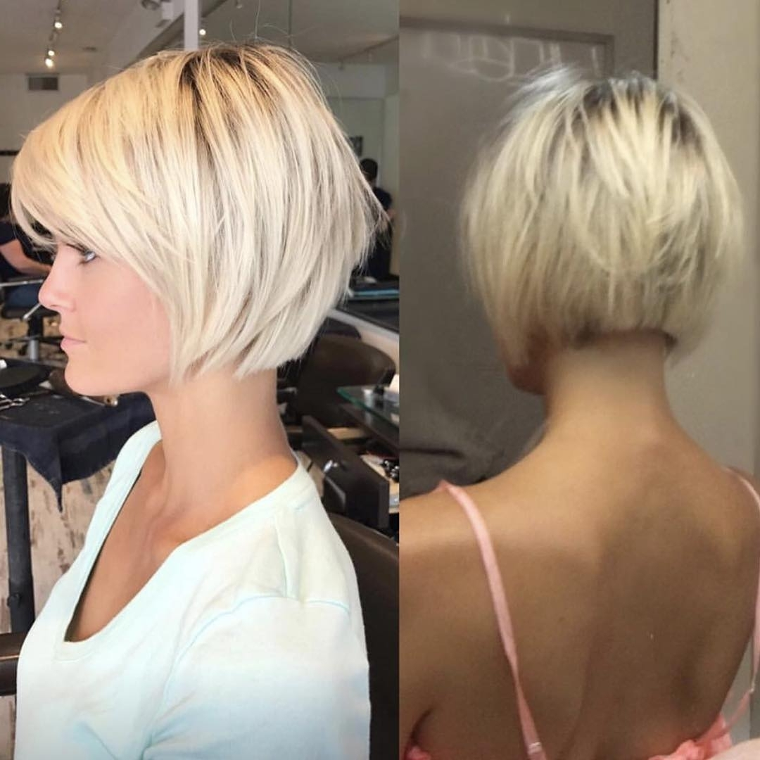 10 Best Short Straight Hairstyle Trends – Women Short Haircut Ideas 2018 With Most Up To Date Blonde Pixie Haircuts With Short Angled Layers (View 9 of 15)