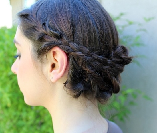 10 Braided Updo Hairstyles For 2014: Delicate Braided Updos For Prom Within 2018 Pinned Up Braided Hairstyles (View 8 of 15)
