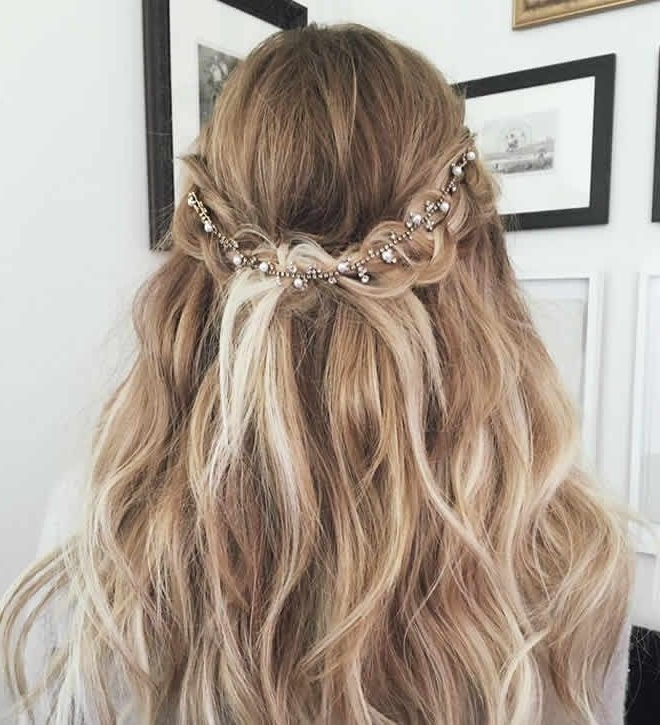 10 Bridal Braided Hairstyles That Are Exactly How You Want To Wear For Recent Half Updo Braids Hairstyles With Accessory (View 5 of 15)