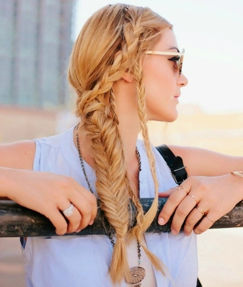 10 Cute And Chic Summer Braided Hairstyles | Hairstyles, Nail Art In 2018 Braided Hairstyles For Summer (View 9 of 15)