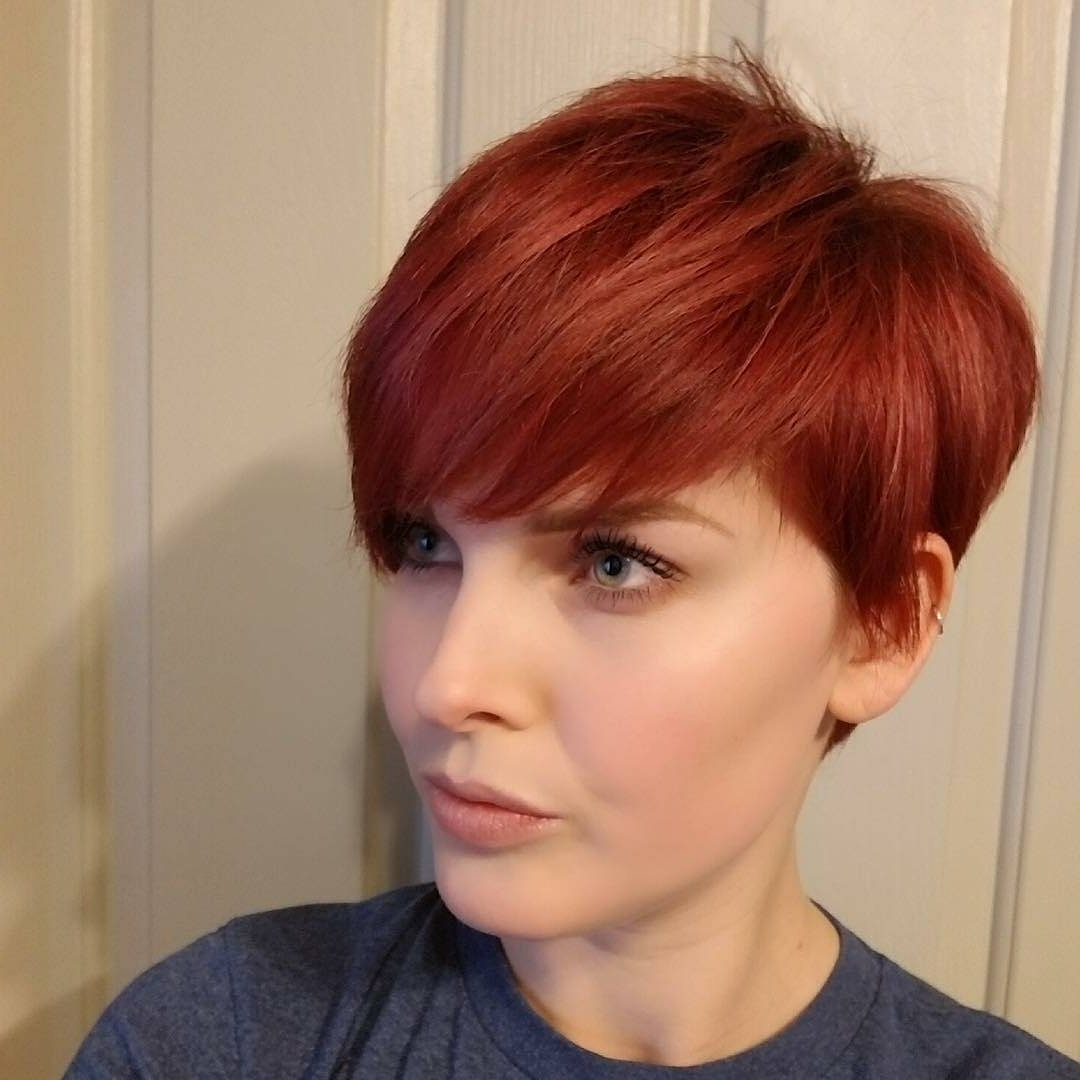 10 Daring Pixie Haircuts For Women, Short Hairstyle And Color 2018 Inside Most Popular Long Red Pixie Haircuts (View 10 of 15)