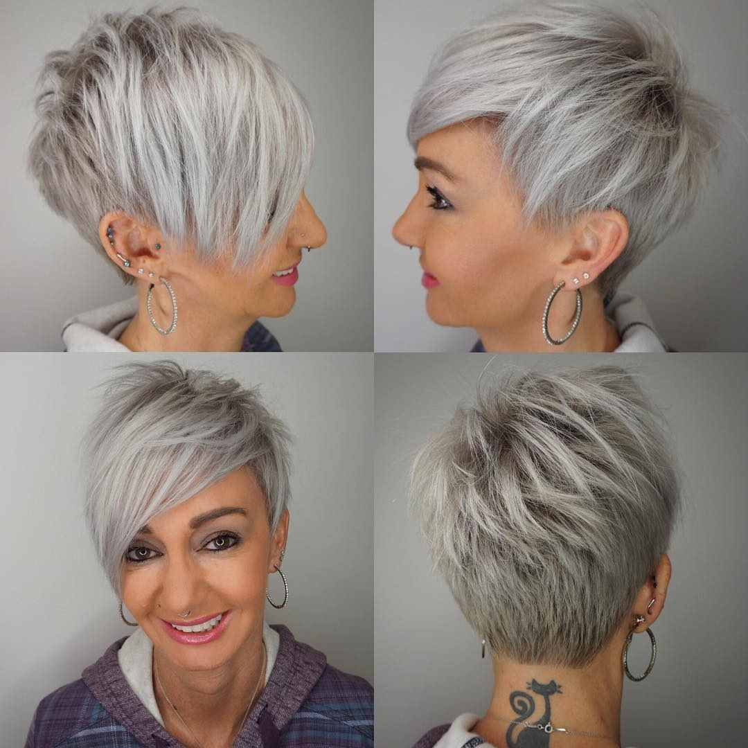 10 Edgy Pixie Haircuts For Women, 2018 Best Short Hairstyles Within Most Recently Gray Blonde Pixie Haircuts (View 5 of 15)