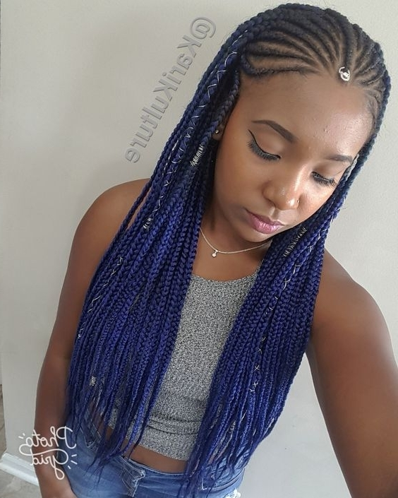 10 Fulani Cornrow Braids Styles You Should Rock Now! | Naa Oyoo Pertaining To Recent Cornrows Hairstyles With Color (View 2 of 15)