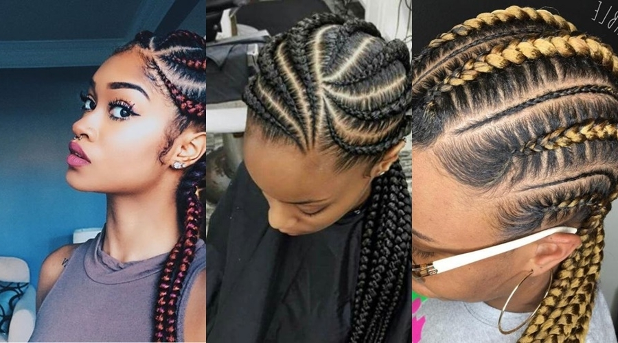 10 Ghana Weaving All Back Styles Bound To Make You The Centre Of Regarding Best And Newest Cornrows Hairstyles Going Back (View 9 of 15)