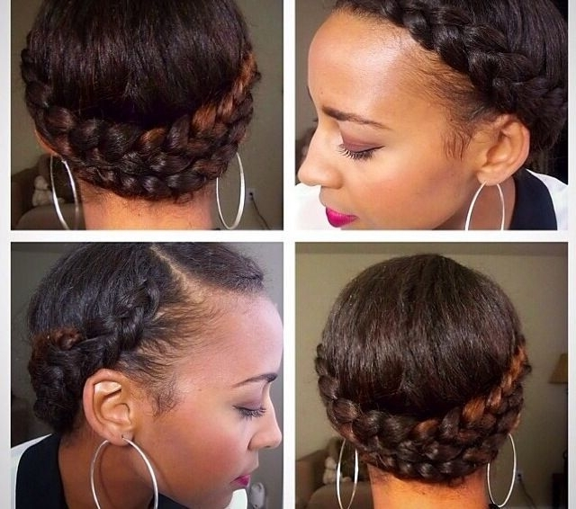 Featured Photo of Dutch Braid Crown For Black Hair
