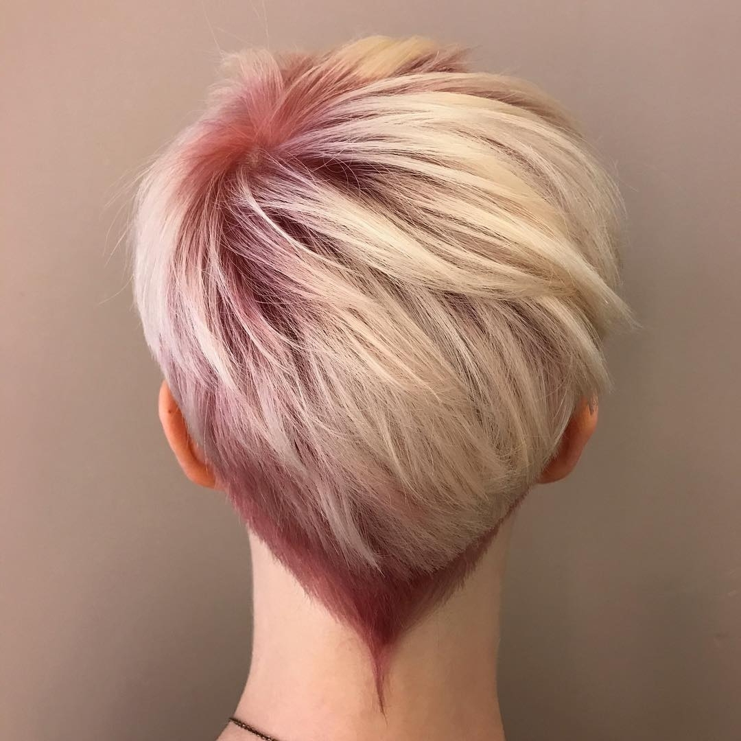 Photo Gallery Of Stacked Pixie Haircuts With V Cut Nape Showing 7