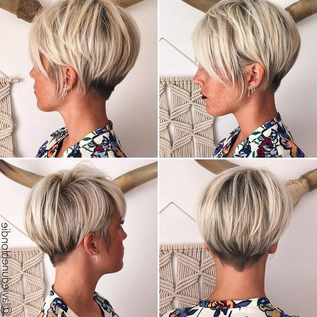 10 Latest Pixie Haircut For Women – 2018 Short Haircut Ideas With A Regarding Most Popular Blonde Pixie Haircuts With Short Angled Layers (View 3 of 15)