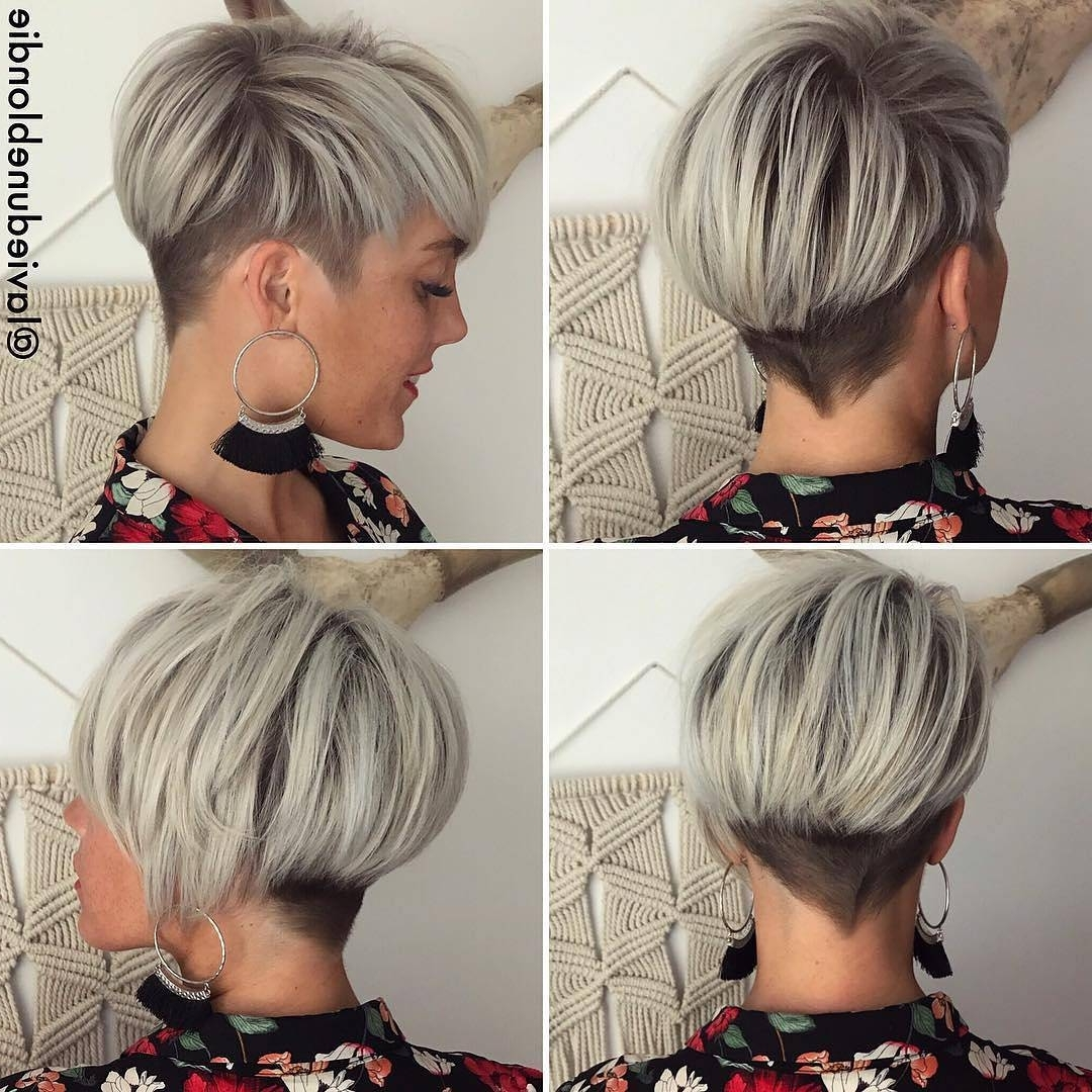 10 Long Pixie Haircuts 2018 For Women Wanting A Fresh Image, Short Hair Regarding 2018 Long Tapered Pixie Haircuts With Side Bangs (View 6 of 15)