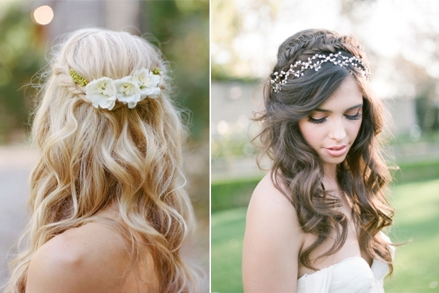 10 Of The Best Half Up Half Down Wedding Hairstyles With Braids With Regard To Recent Half Updo Braids Hairstyles With Accessory (View 7 of 15)
