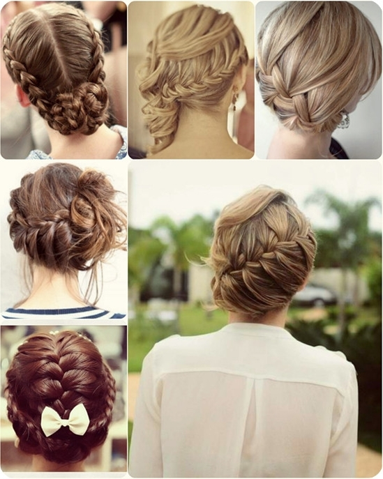 10 Quick Easy And Best Romantic Summer Date Night Hairstyles – Vpfashion Pertaining To Newest Braided Updo Hairstyles For Short Hair (View 14 of 15)