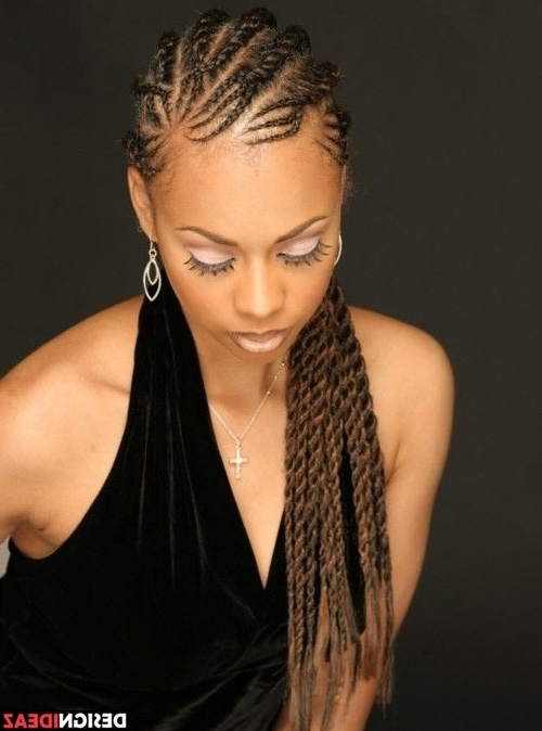 10 Super Hot Black Braided Hairstyles For Oval Faces (View 5 of 15)