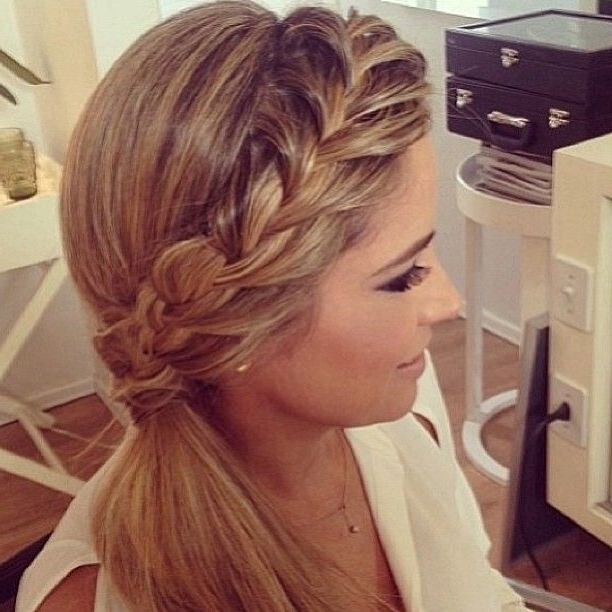 10 Trendy Braided Hairstyles | Side Pony, Hair Style And Hair Makeup Throughout Current Side Ponytail Braided Hairstyles (View 2 of 15)