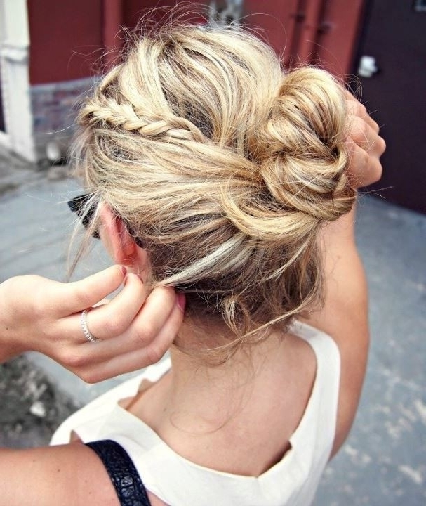 10 Trendy Messy Braid Bun Updos – Popular Haircuts Inside Best And Newest Messy Bun Braided Hairstyles (View 10 of 15)