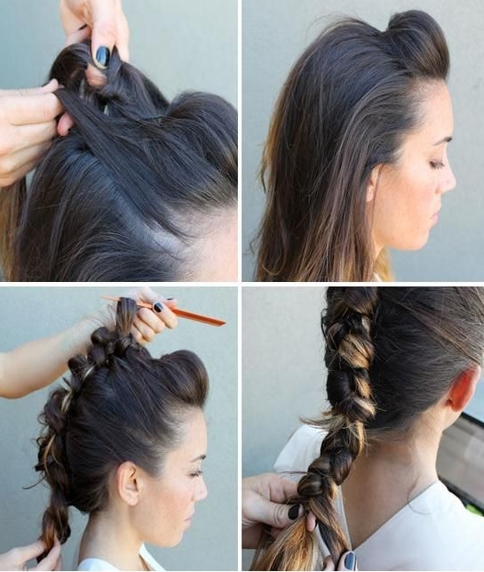 10 Unconventional Ways To Style A Braid | Pinterest | Faux Hawk In Most Popular Reverse Braid Mohawk Hairstyles (View 3 of 15)