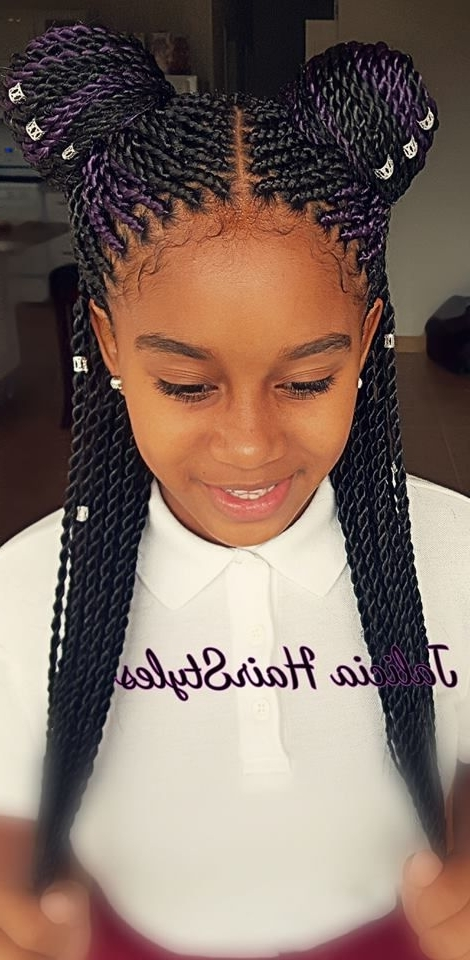 100 Best Braids Images On Pinterest | African Hairstyles, Child Intended For 2018 Youthful Fulani Crown With Horizontal Braids (View 1 of 15)