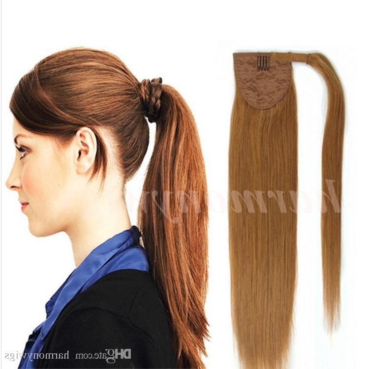 100% Human Hair Ponytail 20 22Inch 100G Straight Remy Double Drawn With Newest Blonde Pony With Double Braids (View 12 of 15)