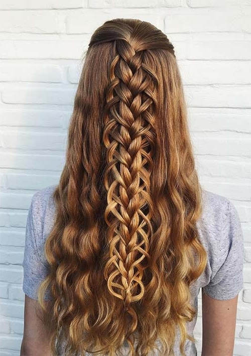 100 Ridiculously Awesome Braided Hairstyles To Inspire You For Most Recent Half Updo Braids Hairstyles With Accessory (View 2 of 15)