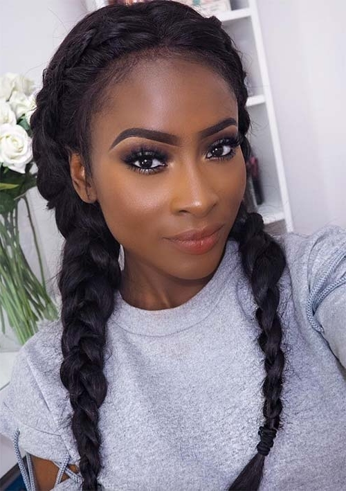 100 Ridiculously Awesome Braided Hairstyles To Inspire You In Best And Newest Dutch Braid Crown For Black Hair (View 10 of 15)