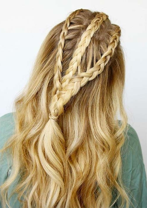 100 Ridiculously Awesome Braided Hairstyles To Inspire You With Newest Triple Braid Hairstyles (View 14 of 15)