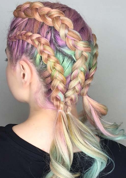 100 Trendy Long Hairstyles For Women To Try In 2017 | Fashionisers Throughout Most Current Triple The Braids Hairstyles (View 14 of 15)