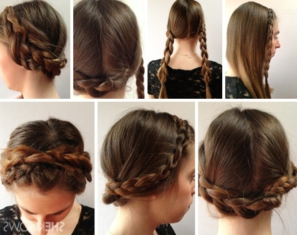 101 Easy Diy Hairstyles For Medium And Long Hair To Snatch Attention Within Best And Newest Pinned Up Braided Hairstyles (View 9 of 15)