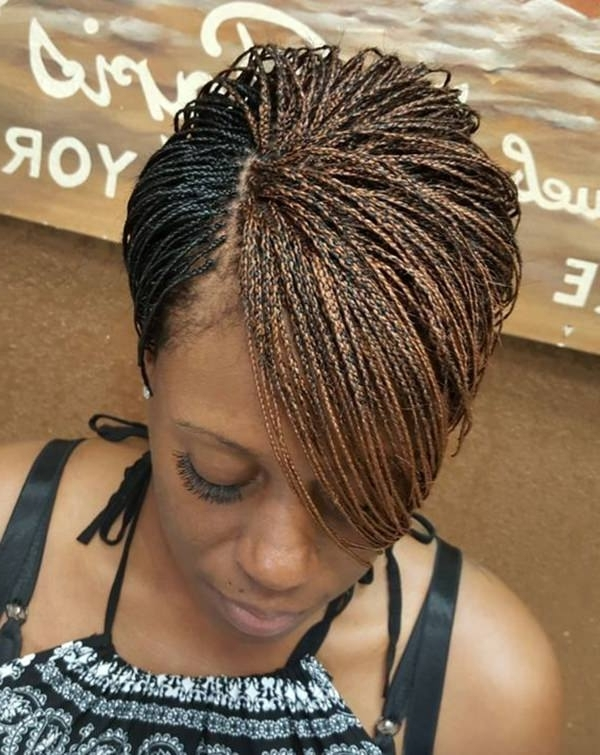 101 Micro Braids For You – Style Easily With Latest Micro Cornrows Hairstyles (View 8 of 15)