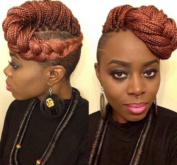 101 Micro Braids For You – Style Easily With Regard To 2018 Braided Hairstyles With Shaved Sides (View 15 of 15)