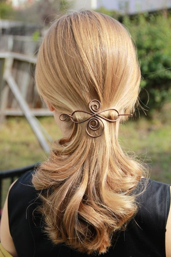 103 Best Wire Hair Clips Images On Pinterest | Shawl Pin, Hair Pins Intended For Newest Side Top Knot Ponytail With Copper Wire Wraps (View 1 of 15)