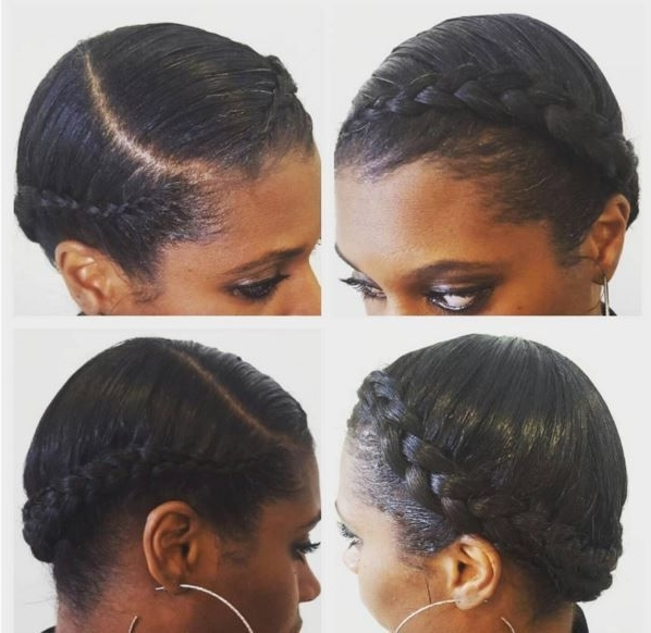 11 Crown Braid Styles Perfect For Spring Protective Styling [Gallery Inside Current Black Crown Braid Hairstyles (View 15 of 15)