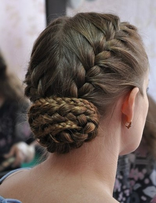 11+ Elegant French Braid Bun Hairstyles 2017 | Page 8 Of 12 In 2018 French Braids Into Braided Buns (View 13 of 15)