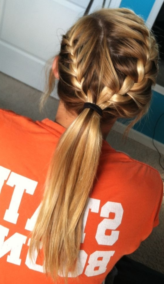 11 Everyday Hairstyles For French Braid | Pinterest | French Braid Regarding Recent Braid Into Pony Hairstyles (View 8 of 15)