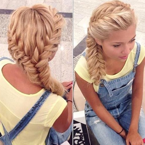 11 Unique Fishtail Braid Hairstyles With Tutorials And Ideas | Hair With Regard To Most Recently Two French Braids And Side Fishtail (View 1 of 15)