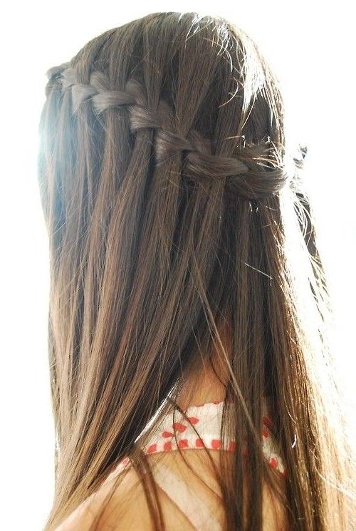 11 Waterfall French Braid Hairstyles: Long Hair Ideas | Waterfall For Current Braided Hairstyles For Straight Hair (View 5 of 15)