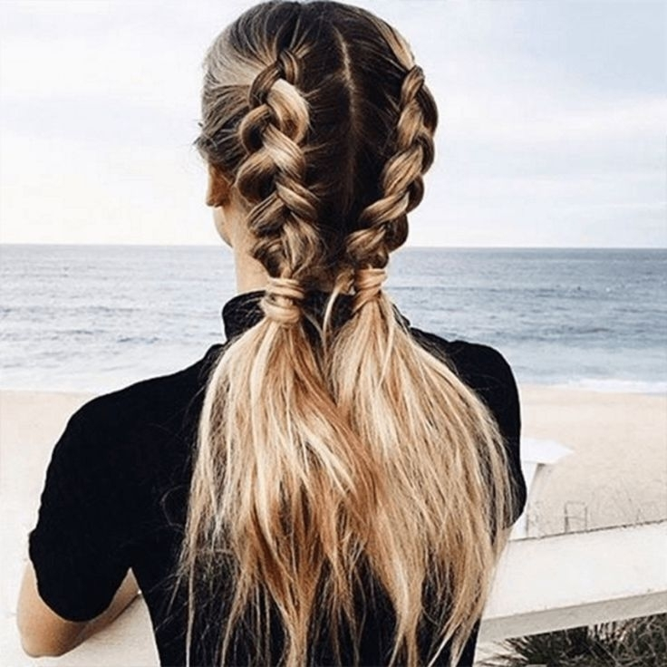 11 Ways To Wear Braided Pigtails That Don't Look Childish | Hair Inside Newest Blonde Pony With Double Braids (View 14 of 15)