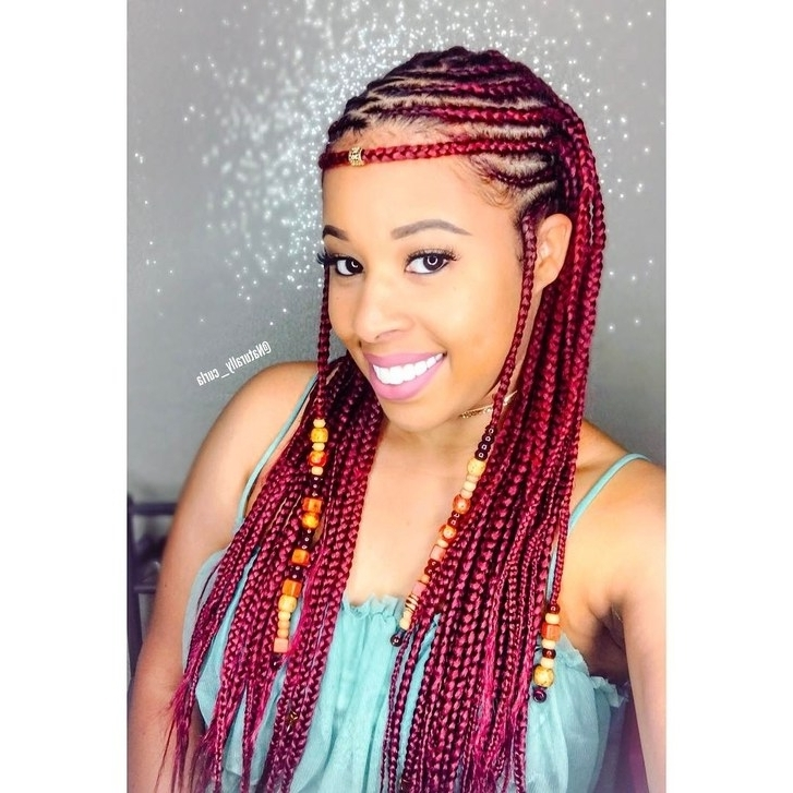 12 Gorgeous Braided Hairstyles With Beads From Instagram | Allure Intended For Most Recent Cleopatra Style Natural Braids With Beads (View 1 of 15)