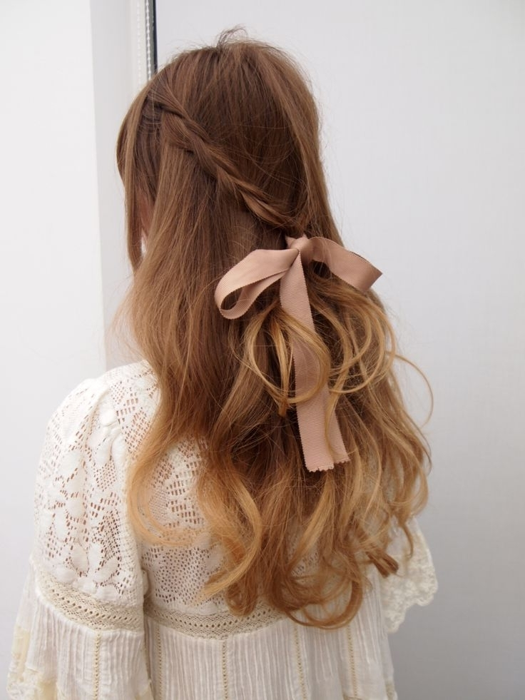 12 Pretty Hairstyles With Ribbons | Beauty And The Peeps | Pinterest For Latest Thin Double Braids With Bold Bow (View 7 of 15)