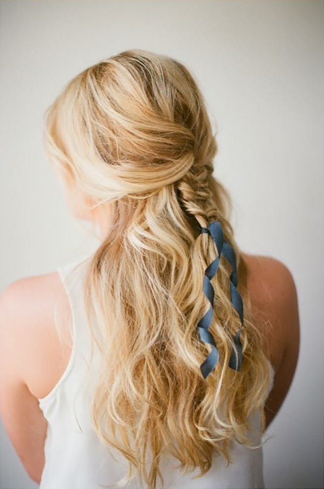 12 Ways To Rock Ribbon In Your Hair | Brit + Co For Current Braided Ribbon Hairstyles (View 3 of 15)