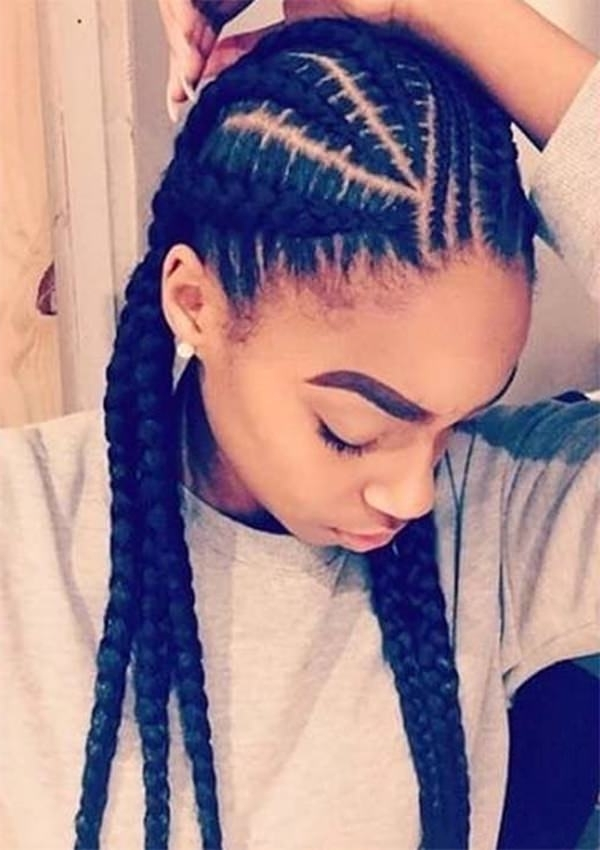 125 Goddess Braids – All About This Hot Hairstyle! – Reachel Pertaining To Most Popular Chunky Mohawk Braid With Cornrows (View 12 of 15)