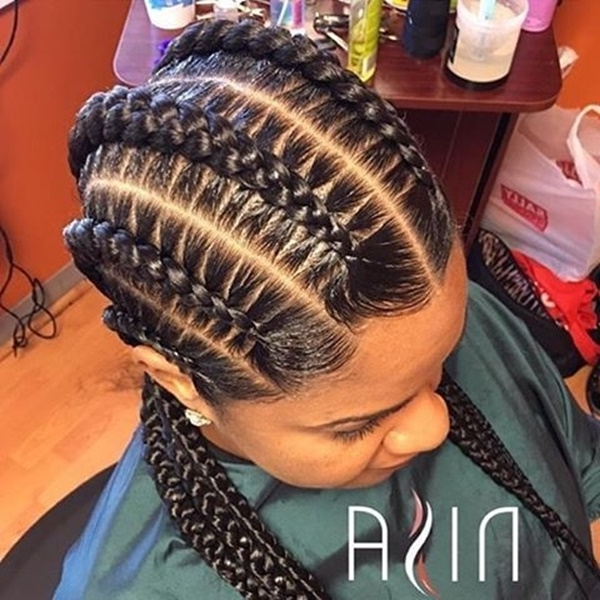 125 Popular Feeder Braids – Reachel For Newest Criss Crossed Braids With Feed In Cornrows (View 2 of 15)